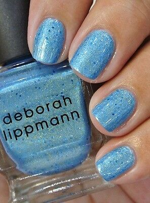 Nib  Deborah Lippmann Mermaids Eyes Polish Lacquer   Full Size   Blue