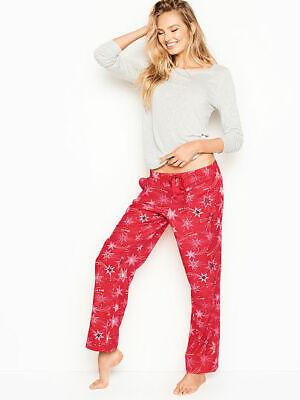 Victoria's Secret Lounge Pajama 2 piece Set Medium Stars Red & Gray Top NWT  2 Piece Stars Pajama Set