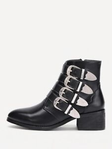 Bottes bottines ankle boots Chloe style buckles 37 7
