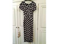 ASOS Polka dot fitted maternity dress, size 8/10