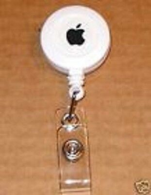 White Apple Computer Logo Badge Holder - NEW