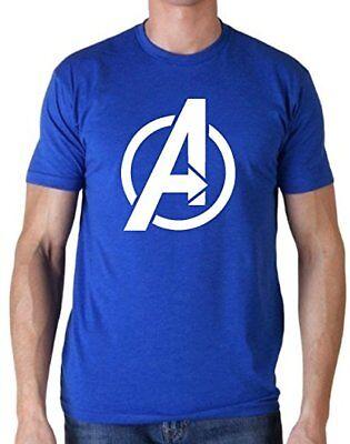 AVENGERS LOGO T-Shirt Costume Iron Man Captain America Thor Wakanda Men's S-2XL  (Thor T Shirt Costume)