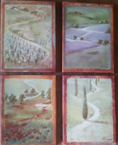 Set of 4 giclee canvas prints