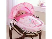 Claire du lune moses basket with stand