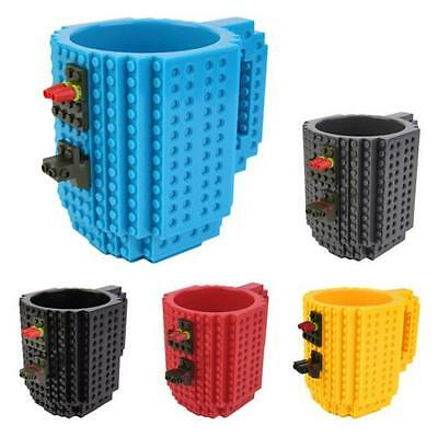 DIY Coffee Mug Build-on Brick Style Puzzle Mugs Frozen Creative Building Blocks - Diy Mugs