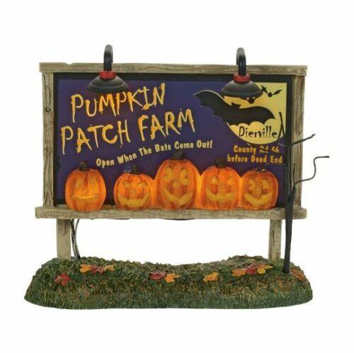 Dept 56 LIT PUMPKIN PATCH BILLBOARD Halloween Village 4057629 BRAND NEW IN BOX
