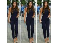Celebrity Inspired Jumpsuit With Lace Mesh