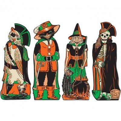 Halloween Decorations Supplies (Vintage Halloween Fanci-Dress Cutouts Halloween Party Decorations)