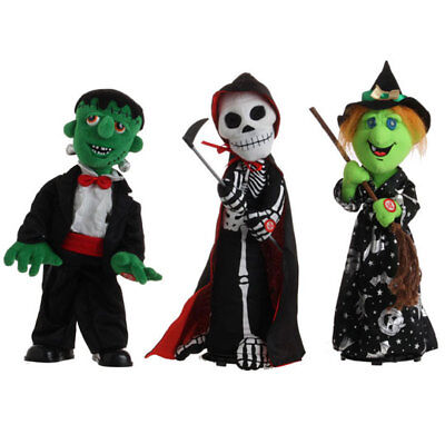 Raz Imports! PICK ONE: Skeleton, Witch or Frankenstein! Animated &  Musical!