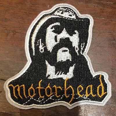 """MOTORHEAD NEW!! LEMMY Iron Or Sew On Thick 3.75"""" X 3.5"""" Embroidered Patch NICE"""