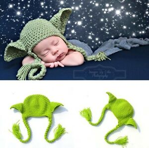 "STAR WARS HANDMADE NEWBORN BABY ""YODA"" CAP AND DIAPER COVER"