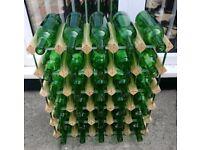 Wine Rack and Bottles