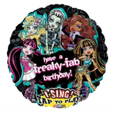 Monster High Balloon Sing a Tune Girls Birthday Music Balloon Party Decoration - Music Birthday Decorations