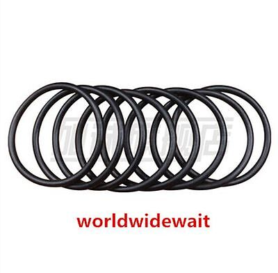 20pcs 50mm X 2mm Industrial Flexible Filter Rubber O Ring Seal Black