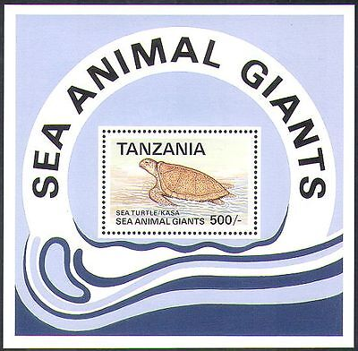 TANZANIA 1993 SEA TURTLE/TURTLES/ANIMALS/MARINE/WILDLIFE/CONSERVATION M/S S2461
