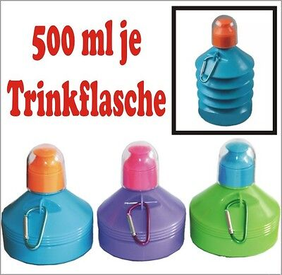 Kinder Trinkflasche 500 ML TRINKFLASCHE FALTBAR 500ML MIX FARBEN Neu