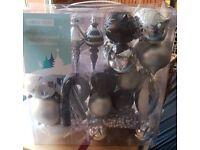 Black and silver shiny balls for xmas