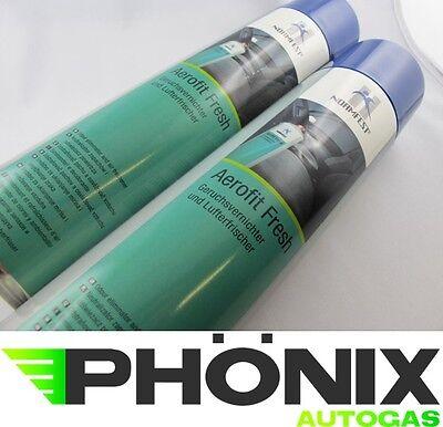 2x Normfest Aerofit Fresh Geruchsvernichter Lufterfrischer 600ml Citrusduft