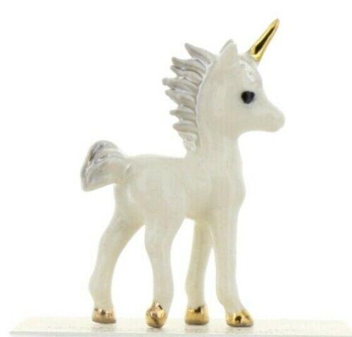 Hagen-Renaker Miniature Ceramic Figurine White Baby Unicorn Standing