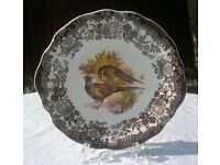 Vintage Royal Worcester Palissy Game Series Earred Cake Plate