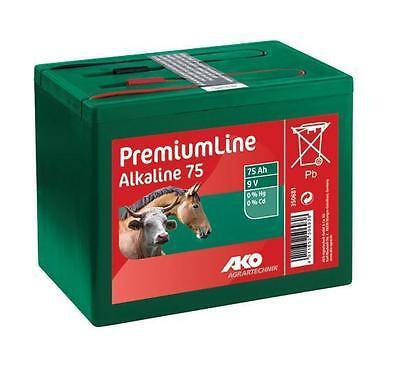 Weidezaunbatterie 9 V 75 Ah ALKALINE  Trockenbatterie Batterie Weidezaun NEU