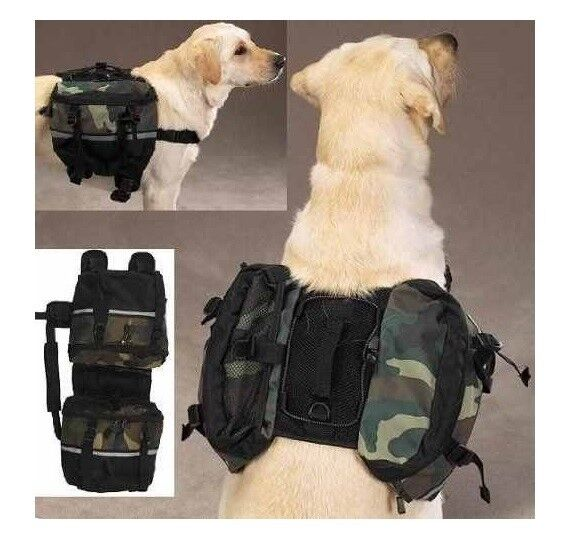 Zack & Zoey Camo Day Tripper Dog Backpacks Large
