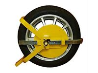BRANDNEW HEAVY DUTY WHEEL CLAMP LOCK FOR CAR/ CARAVAN/TRAILER