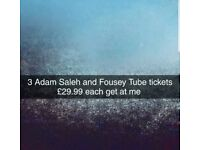 Adam Saleh and Fousey Tube tickets