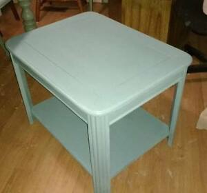Pretty Peacock Blue Shabby Chic Entrance, End or Night Table