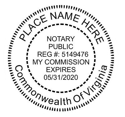 INSERT - CUSTOM- Round Self-Inking NOTARY SEAL RUBBER STAMP RUBBER PART ONLY