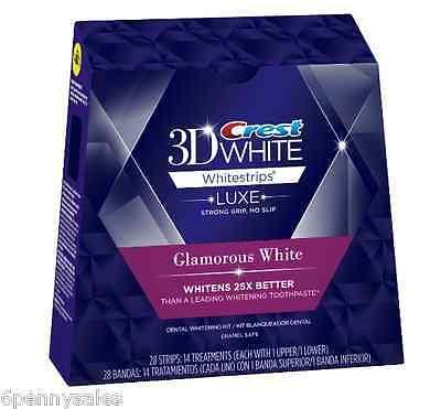 - CREST 3D Luxe Glamorous White Whitestrips Teeth Whitening Strips Dental Whitener