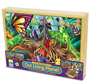 BNIB -The Learning Journey 4 In A Box Wooden Puzzle Set