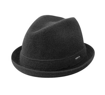 - KANGOL 100% Authentic Wool Player Fedora Trilby Hat Cap 6447BC