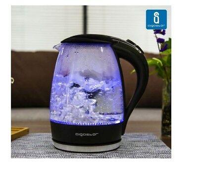 Aigostar Adam 30GOM- Bollitore in vetro Borosilicato con illuminazione Led 1,7L