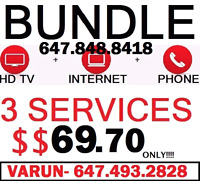 UNLIMITED INTERNET + HD CABLE TV + HOME PHONE $69 BUNDLE DEAL