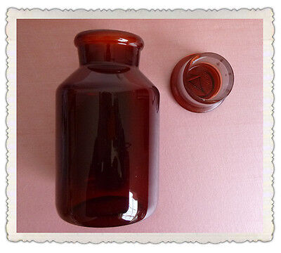 500ml Amber Glass Reagent Bottlewide Mouthwith Ground Stoppernone Graduation