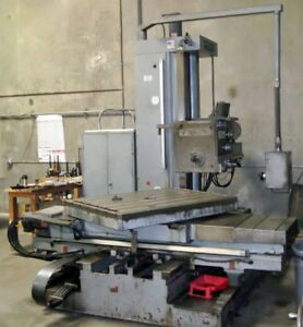 "USED, 4"" MONTI MODEL MCS 100 TABLE TYPE HORIZONTAL BORING MILL"