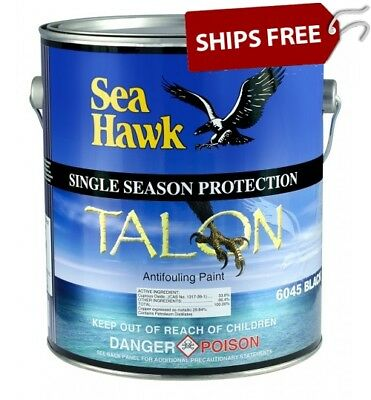 Sea Hawk Talon Hard Bottom Paint, Gallon, Black