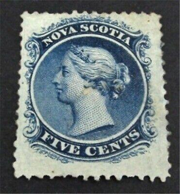 nystamps Canada Nova Scotia Stamp # 10 Mint OG H $425 Appears   L23y2928