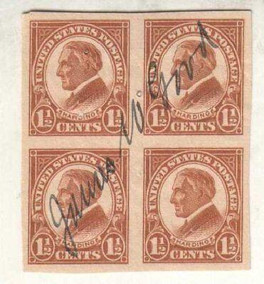 James Good Autographed 1920's Harding Stamps Iowa Politician D.29