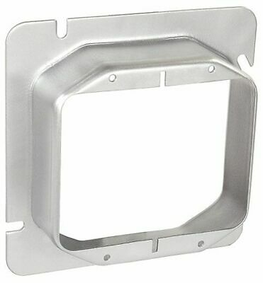 Lot 2 Pcs Of 4 -1116 Mud Ring 1-14 Raised Cover 2 Device Square Box 2 Gang