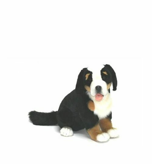 """True-to-Life Bernese Mountain Dog Pup  Plush Toy by Hansa Toys 13"""" High"""