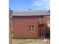 Holly Lodge 10 X 6 - 2 storey playhouse and plastic shed base
