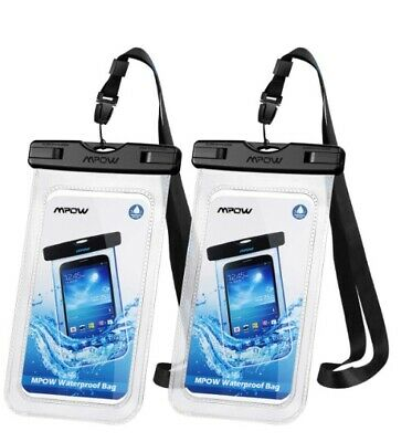 Mpow 097 Universal Waterproof Case Protective,IPX8 Phone Pouch Dry Bag  (2-Pack)