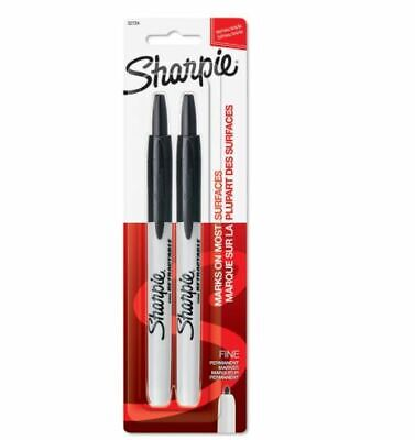 Sharpie Retractable Permanent Markers Fine Point Black Pack Of 2