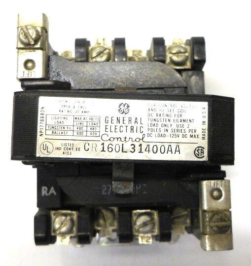 GENERAL ELECTRIC CONTROL CONTACTOR #CR160L3140AA