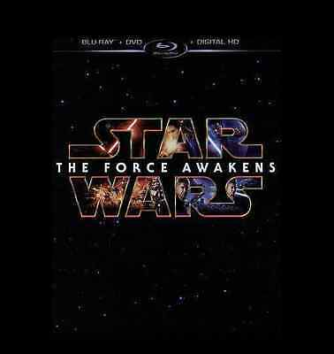 Star Wars The Force Awakens (Blu-ray/DVD, 2016 3-Disc Set)