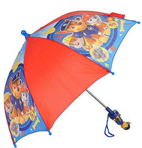 Paw Patrol Umbrella Little Toddler Boys Kids Dog Puppy Red Blue Cute Chase Rain