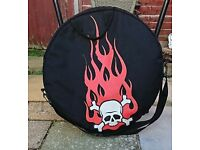 Black cymbal bag.