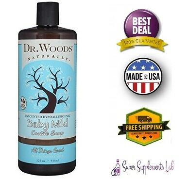 Organic Oils Castile Soap - PURE ORGANIC LIQUID CASTILE SOAP Unscented Plant Based Oils Skin Baby Wash 32 Oz